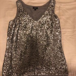 Silver sparkly Talbots blouse
